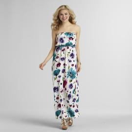 Trixxi Junior's Belted Ruffle Top Maxi Dress - Floral at Sears.com