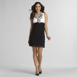 Sally Lou Fashions Women's Ruffle Neck Party Dress at Sears.com