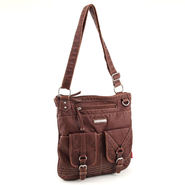 Unionbay Women's Washed Cross-Body Purse Cognac at Sears.com