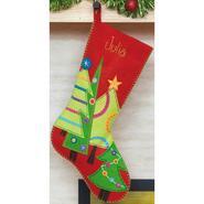 "Festive Tree Stocking Felt Applique Kit 19"" Long at Sears.com"