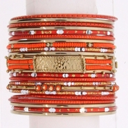 Studio S 21-Piece Women's Coral Bangle Bracelet Set at Sears.com