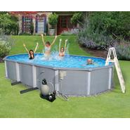 "Swim Time Zanzibar Oval 54"" Deep 8-in Top Rail Metal Wall Swimming Pool Package at Sears.com"