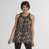 Jaclyn Smith Women's Tank Top - Beaded & Leopard Print at Kmart.com
