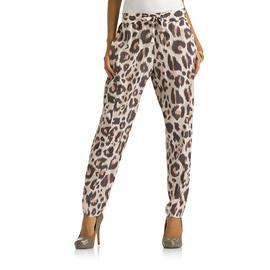 Kardashian Kollection Women's Drawstring Pants - Leopard Print at Sears.com