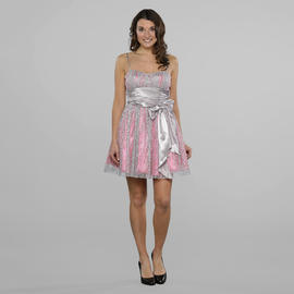 Bee Darlin Junior's Glitter Tulle Overly Party Dress at Sears.com