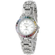 Armitron Ladies Multi-Color Swarovski Crystal Accented Silver-Tone Bracelet Watch at Sears.com