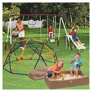 Cameron 4 Leg 5 Station Swing Set, Sand Box & Space Dome Bundle at Sears.com