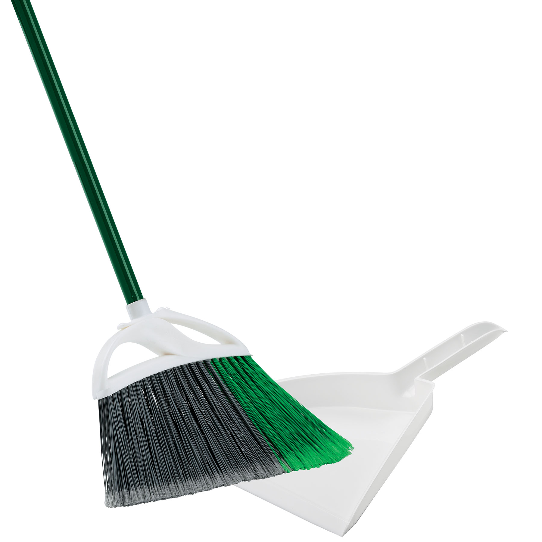 Large Precision Angle® Broom with Dustpan