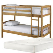 Essential Home Bunk Bed with Mattress Bundle         ...