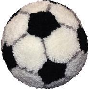"Huggables Soccer Ball Pillow Latch Hook Kit 10"" Round at Kmart.com"