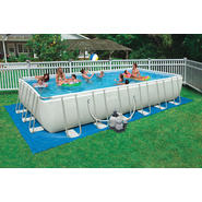 Intex 24 ft. x 12 ft. x 52 in. Rectangular Ultra Frame Pool Package at Sears.com