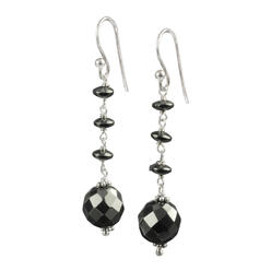 Lita Sterling Silver Faceted Hematite Round And Roundell Earrings at Kmart.com