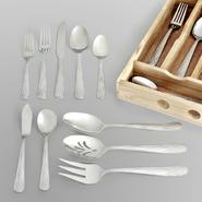 Sandra by Sandra Lee 46-Pc. Flatware Set - Smithtown Frost at Kmart.com