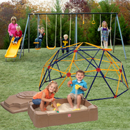 Playzone 6-Leg 7-Play Swing Set, Sand Box & Space Dome Bundle at Sears.com