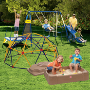 Jump N Swing Set, Sand Box & Space Dome Bundle       ...