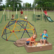 The Adventure Play 8-Leg Swing Set, Sand Box & Space Dome Bundle at Kmart.com