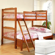 Oxford Creek Twin/Full Bunk Bed with Mattress Bundle at Sears.com