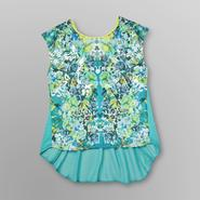 Bongo Junior's High-Low Top - Floral & Sequins at Sears.com