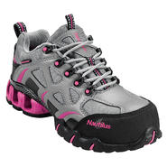 Nautilus Safety Footwear Women's Composite Toe Electrical Hazard Waterproof Athletic N1851 Grey/Pink Wide Widths Available at Sears.com