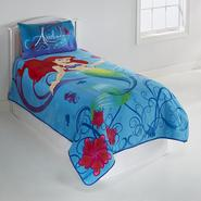 Disney Girl's Little Mermaid Twin Throw Blanket at Kmart.com