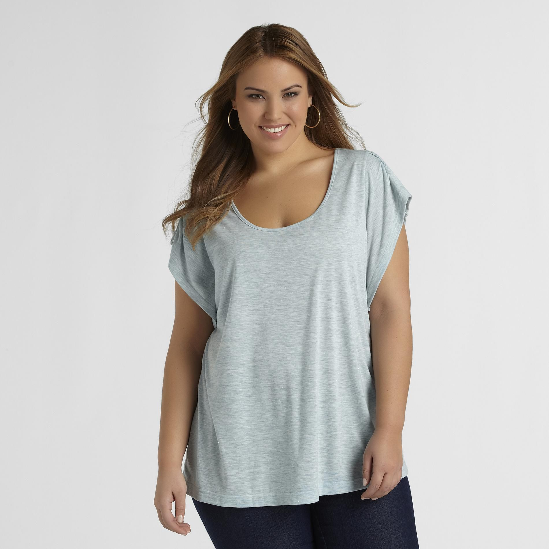 Love Your Style, Love Your Size Women's Plus Braided Back T-Shirt at Kmart.com