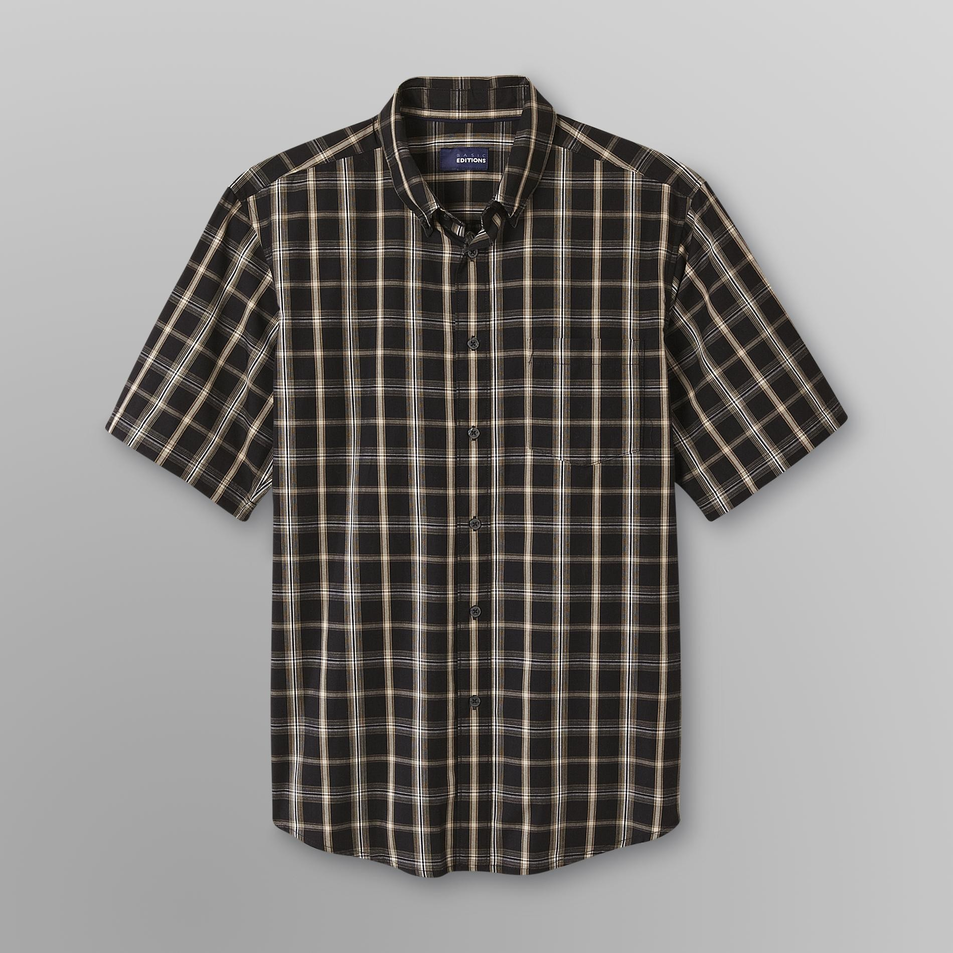 Basic Editions Men's Big & Tall Easy Care Woven Shirt - Plaid at Kmart.com
