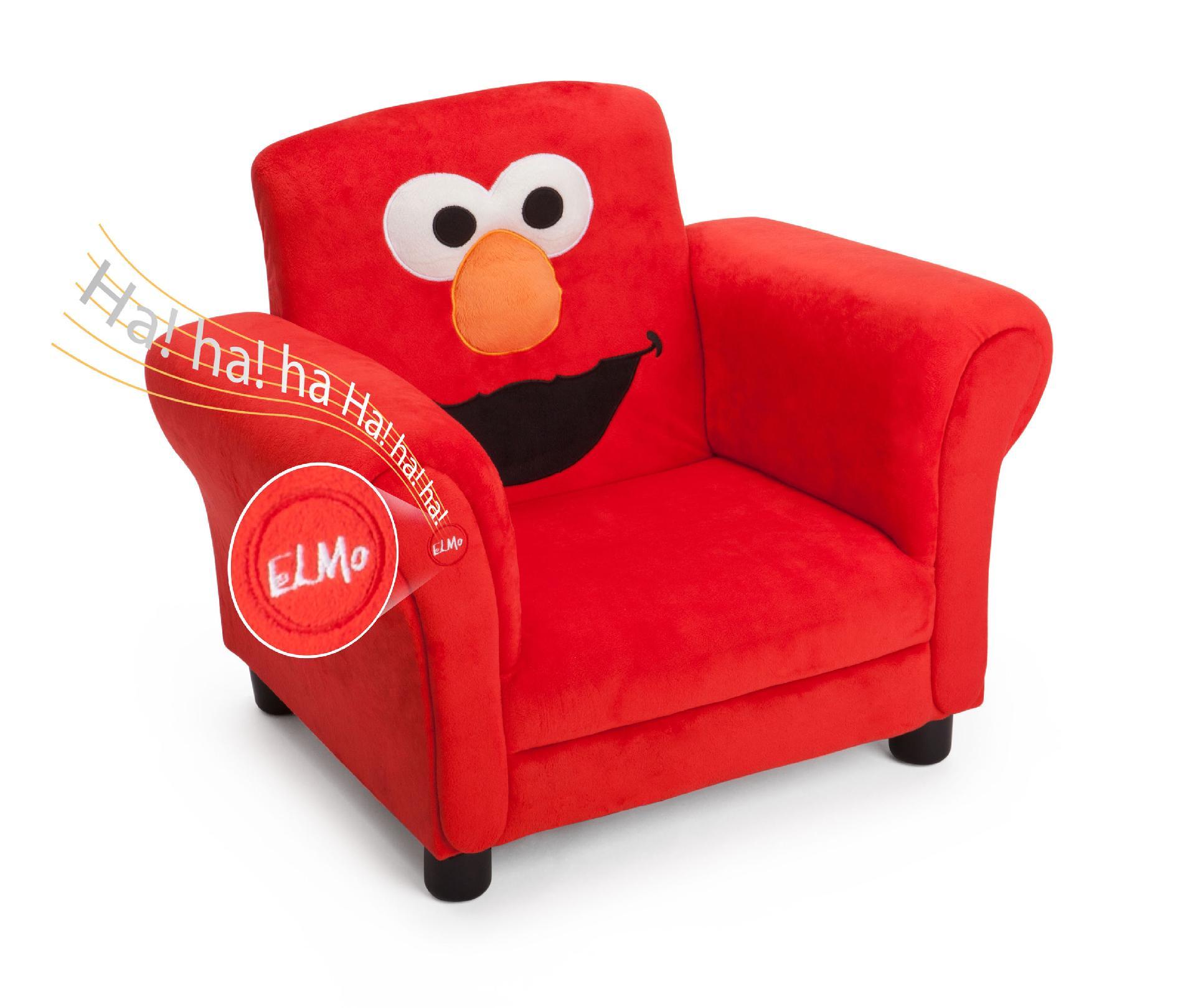 Delta Children Sesame Street Elmo Giggle Upholstered Chair ...