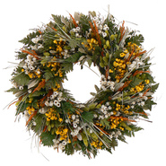 The Christmas Tree Company 22 Inch Wild Daisy Stroll Dried Floral Wreath at Kmart.com