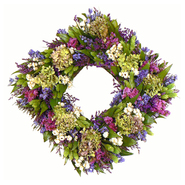 The Christmas Tree Company 17 Inch Cheerful Spring   Dried Floral Square Wreath at Kmart.com