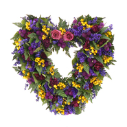 The Christmas Tree Company 17 Inch Loving Spring Dried Floral Heart Wreath at Kmart.com