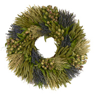 The Christmas Tree Company 28 Inch Lavender Grassland Dried Floral Wreath at Kmart.com