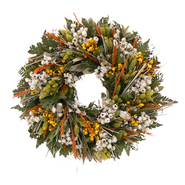 The Christmas Tree Company 18 Inch Wild Daisy Stroll Dried Floral Wreath at Kmart.com