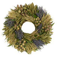 The Christmas Tree Company 22 Inch Lavender Grassland Dried Floral Wreath at Kmart.com