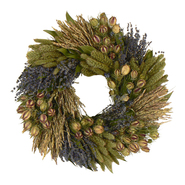 The Christmas Tree Company 16 Inch Lavender Grassland Dried Floral Wreath at Kmart.com