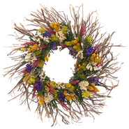 The Christmas Tree Company 22 Inch Spring Kaleidoscope Dried Floral Wreath at Kmart.com