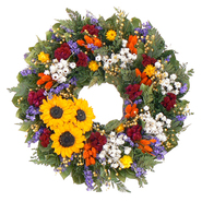 The Christmas Tree Company 18 Inch Swanky Sunflower Dried Floral Wreath at Kmart.com