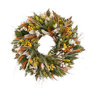 The Christmas Tree Company 16 Inch Wild Daisy Stroll Dried Floral Wreath at Kmart.com