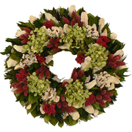 The Christmas Tree Company 16 Inch Ravishing with Raspberry Dried Floral Wreath at Kmart.com