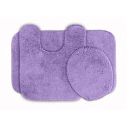 Garland Rug Glamor Nylon Washable Bathroom 3 Piece Rug Set Purple at Kmart.com