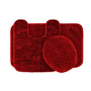 Garland Rug Traditional Nylon Washable Bathroom 3 Piece Rug Set Chili Pepper Red at Kmart.com