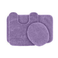 Garland Rug Traditional Nylon Washable Bathroom 3 Piece Rug Set Purple at Kmart.com