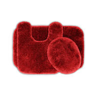 Garland Rug Finest Luxury Ultra Plush Washable Nylon Bathroom 3 Piece Rug Set Chili Pepper Red at Kmart.com