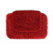 Garland Rug Serendipity Shaggy Washable Nylon Bathroom 2 Piece Rug Set Chili Pepper Red at Kmart.com