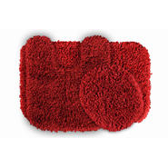Garland Rug Serendipity Shaggy Washable Nylon Bathroom 3 Piece Rug Set Chili Pepper Red at Kmart.com