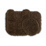 Garland Rug Serendipity Shaggy Washable Nylon Bathroom 3 Piece Rug Set Chocolate at Kmart.com