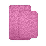 Garland Rug Zebra Two Piece Bath Rug Set Pink at Kmart.com