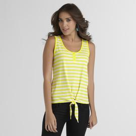Joe Boxer Women's Tie-Front Tank Top - Striped at Sears.com