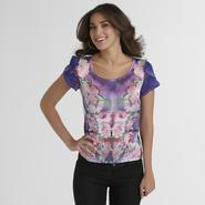 Attention Women's High-Low Top - Floral at Kmart.com