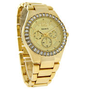 Gruen Ladies Gold-Tone Band and Dial with  Crystal Bezel Watch at Sears.com