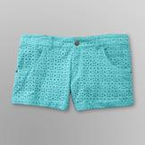 Dream Out Loud by Selena Gomez Junior's Cuffed Eyelet Shorts at mygofer.com